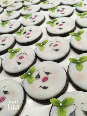 Snowman cookies - Cake by dortUM