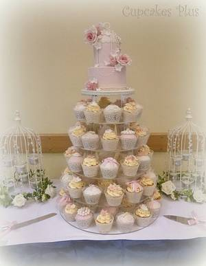 Birdcage cake and cupcake tower - Cake by Janice Baybutt