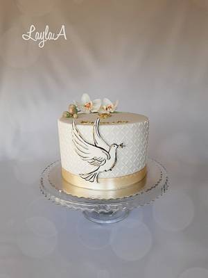 Confirmation cake for girl  - Cake by Layla A