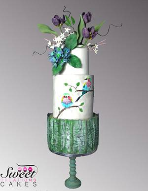 Spring birds chirping : Sugar Art For Autism 2017 - Cake by Sweet Creations Cakes