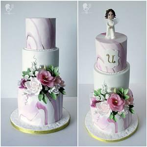 Elegant Baptism Cake - Cake by Antonia Lazarova