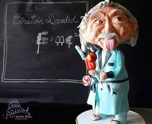 Bobblehead Einstein Cake - Lost in Candyland -ICAN Cake Collaboration - Cake by Gauri Kekre