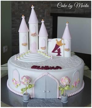 Princess castle for Eliška - Cake by MartaMc