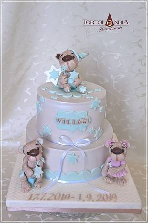 Christening cake for Viliam - Cake by Tortolandia