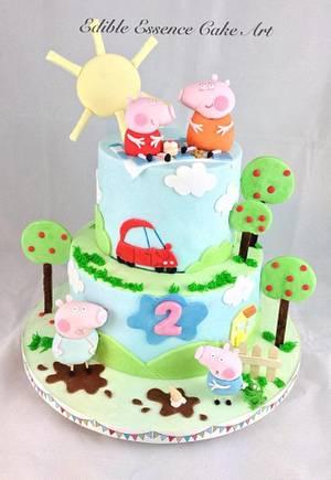 Peppa Pig Cake - Cake by Edible Essence Cake Art