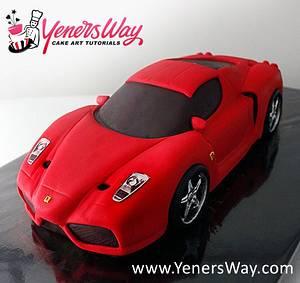 3D Ferrari Enzo Car Cake - Cake by Serdar Yener   Yeners Way - Cake Art Tutorials