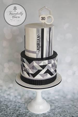 Geometric cake - Cake by Marianne: Tastefully Yours Cake Art