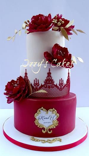 Ruby Wedding Anniversary Cake - Cake by The Rosehip Bakery