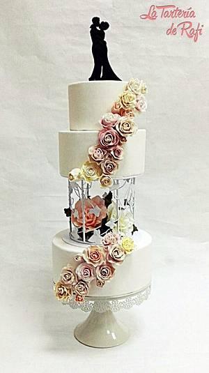 🌹🌼🌷 Romantic blossom cake 🌹🌼🌷 - Cake by Rafaela Carrasco (La Tartería de Rafi)