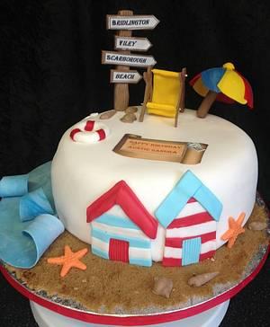 Beach cake  - Cake by Kirstie's cakes