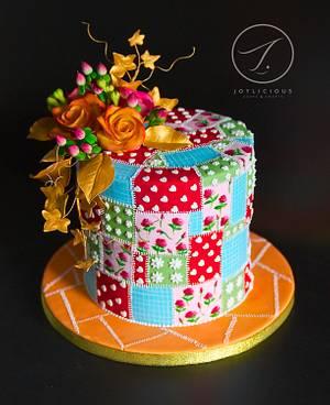 Autumn Patchwork - Cake by Joyliciouscakes