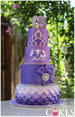 Shades of Purple!  - Cake by Hot Mama's Cakes