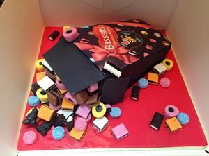 Liquorice allsorts cake - Cake by Enchanting Cupcakes hobby cakes
