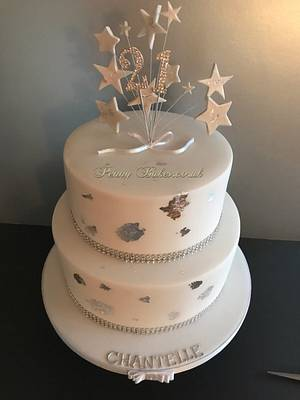 Sparkling 21st Birthday cake - Cake by Penny Sue