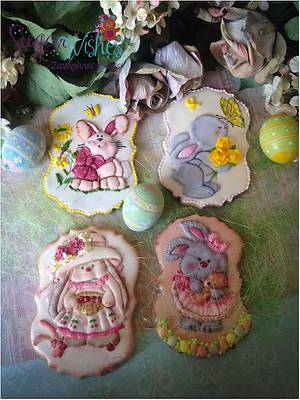 Bunny Love - Cake by Tina Tsourtsoulas
