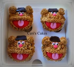 Fozzie Bear cupcakes - Cake by Ceri's Cakes