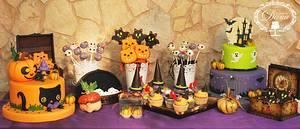 Hallooween dessert table  - Cake by Cofetaria Dana