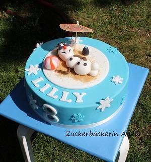 Frozen - Olaf  - Cake by Adéla
