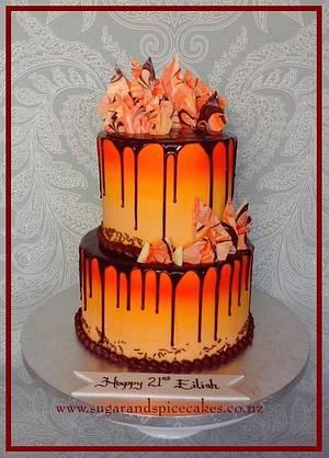 Dark Chocolate, Orange & Sunshine  - Cake by Mel_SugarandSpiceCakes