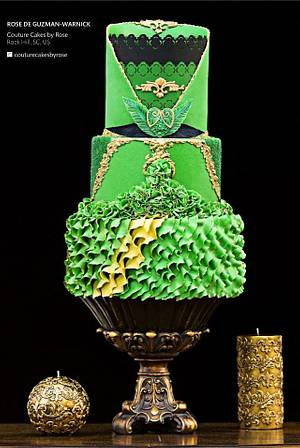 """Georges Chakra"" inspired Fashion Cake  - Cake by couturecakesbyrose"