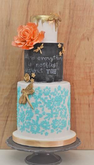 Vintage Cake - Cake by Irene Gutiérrez- Irene Bakery