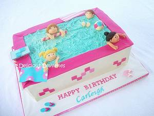 Pool Party Cake - Cake by DeliciousDeliveries