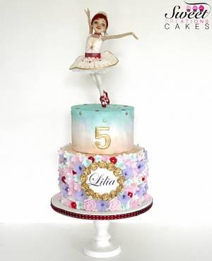 Pastel Spring Ballerina cake - Cake by Sweet Creations Cakes