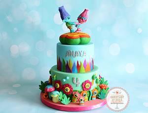 Trolls Fun - Cake by Sunitha Jossey