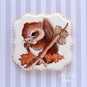 """Squirrel cookie - Cake by Nadia """"My Little Bakery"""""""