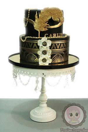 Great Gatsby theme cake - Cake by YumZee_Cuppycakes