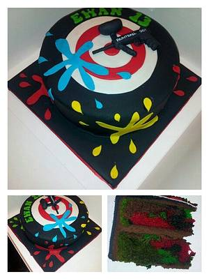 Paintball - Cake by Jan