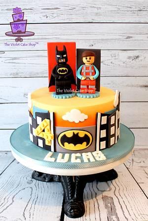 LEGO MOVIE Cake with Batman & Emmet - Cake by Violet - The Violet Cake Shop™