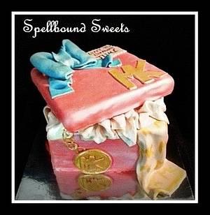 Michael Kors Gift Box Cake - Cake by Bethanny Jo