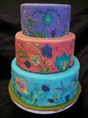 Winter Embroidery - Cake by Elyse Rosati