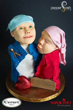 Sometimes strength comes in knowing that you are not alone @Amore - a heart for children - Cake by Pepper Posh - Carla Rodrigues