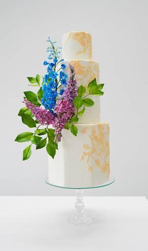 Vintage Garden  lace wedding cake - Cake by Catalina Anghel azúcar'arte