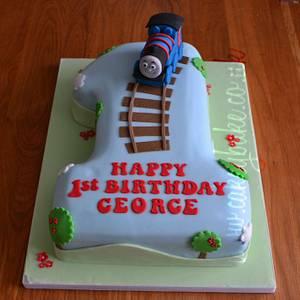Thomas the Tank Engine Cake - Cake by CakeyBake (Kirsty Low)