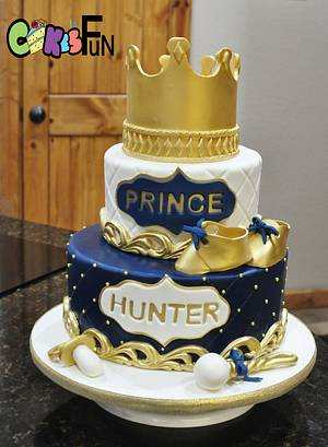 Baby shower for a Prince - Cake by Cakes For Fun