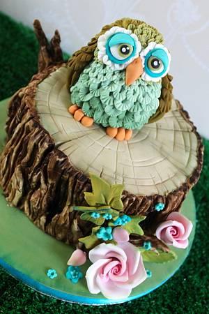 Cute owl cake - Cake by Zoe's Fancy Cakes
