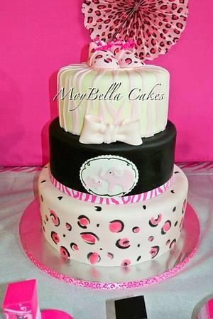 Leopard Zebra Baby Shower - Cake by GABRIELA AGUILAR