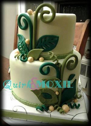Eco Nature Wedding Cake - Cake by QuirkAndMoxie