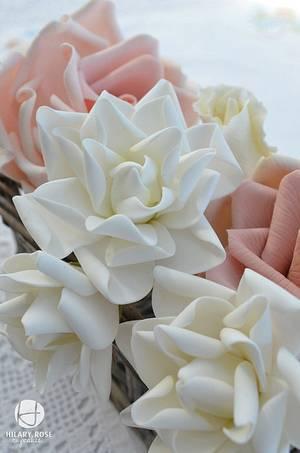 Gardenias - Cake by Hilary Rose Cupcakes