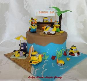 Minions Banana Bar - Cake by Irina Vakhromkina