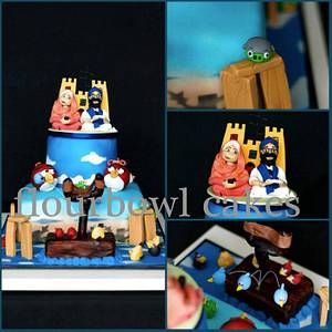 Angry Birds Wedding Cake - Cake by Flourbowl Cakes