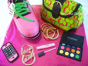 Sneaker and Purse Cake - Cake by DeliciousDeliveries