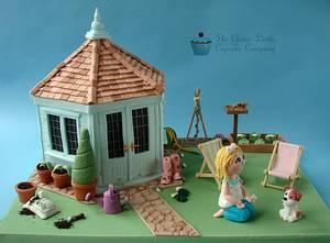 Summerhouse Cake - Cake by Amanda's Little Cake Boutique