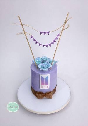BTS Cake Medellin - Cake by Dulcepastel.com