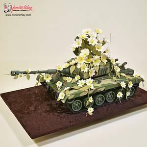 3D Tank Cake - Cake by Serdar Yener   Yeners Way - Cake Art Tutorials