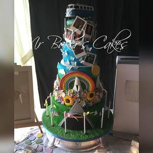 Glastonbury Wedding - Cake by Mr Baker's Cakes