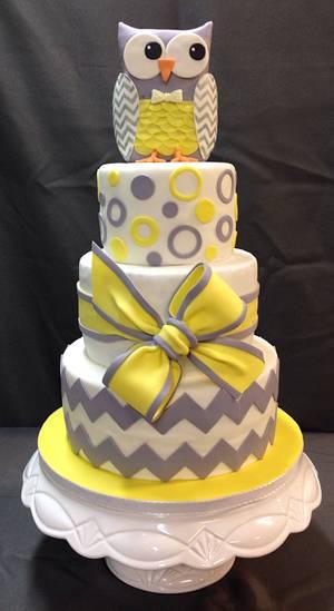 Chevron Owl Cake - Cake by Melanie Mangrum